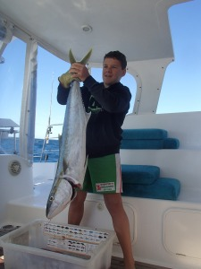 Another great King Fish Caught bottom fishing at Fitzroy Reef
