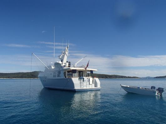 Great Keppel Island Wonderful boating Friends Morrie & Faye MY Panacea